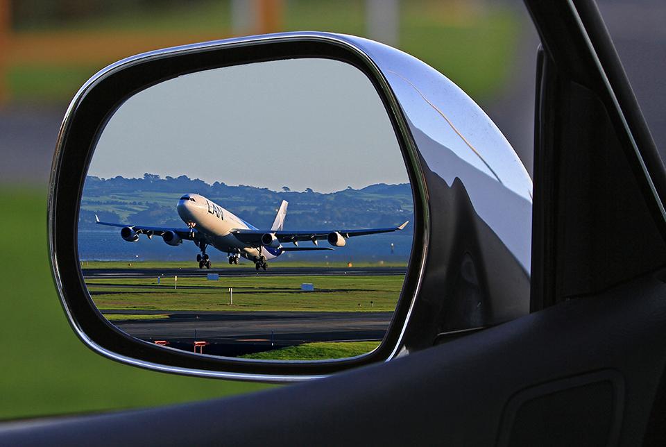 Vehículo en el aeropuerto